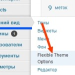 Внешний вид (Appearance)- «Flexible Theme Options»